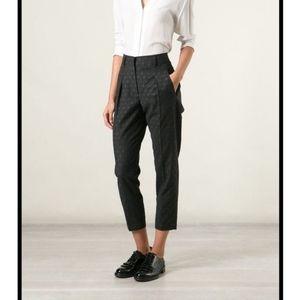 Brunello Cucinelli Wool Polka Dot Cropped Pants 6